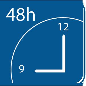 48 órán belüli házhoz szállítás