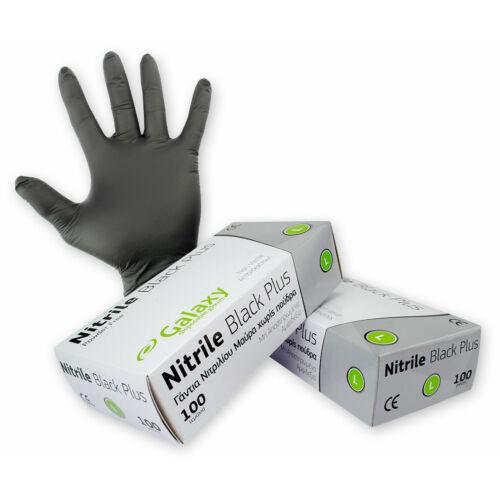 GALAXY NITRILE BLACK PLUS egyszerhasználatos kesztyű